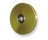 Miniature Precision Pulleys: brass grooved ball bearing